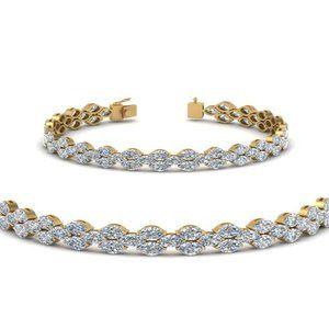 Jewelry - 8.5 Ct marquise cut diamond tennis bracelet solid